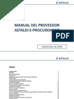 Astaldi E-Procurement Manual Del Proovedor (Sept. 2016 Espanol)