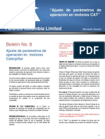Boletín Técnico N° 8 - AJUSTE MOTORES CAT Rev. 0.pdf