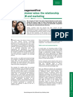 Creating Customer Value the Relationship