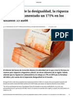 A La Sombra de La Desigualdad, La Riqueza en Chile Ha Aumentado Un 171% en Los Últimos 15 Años - El Mostrador (1)