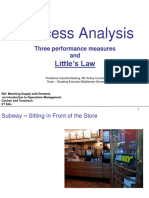Process Analysis - Little's Law