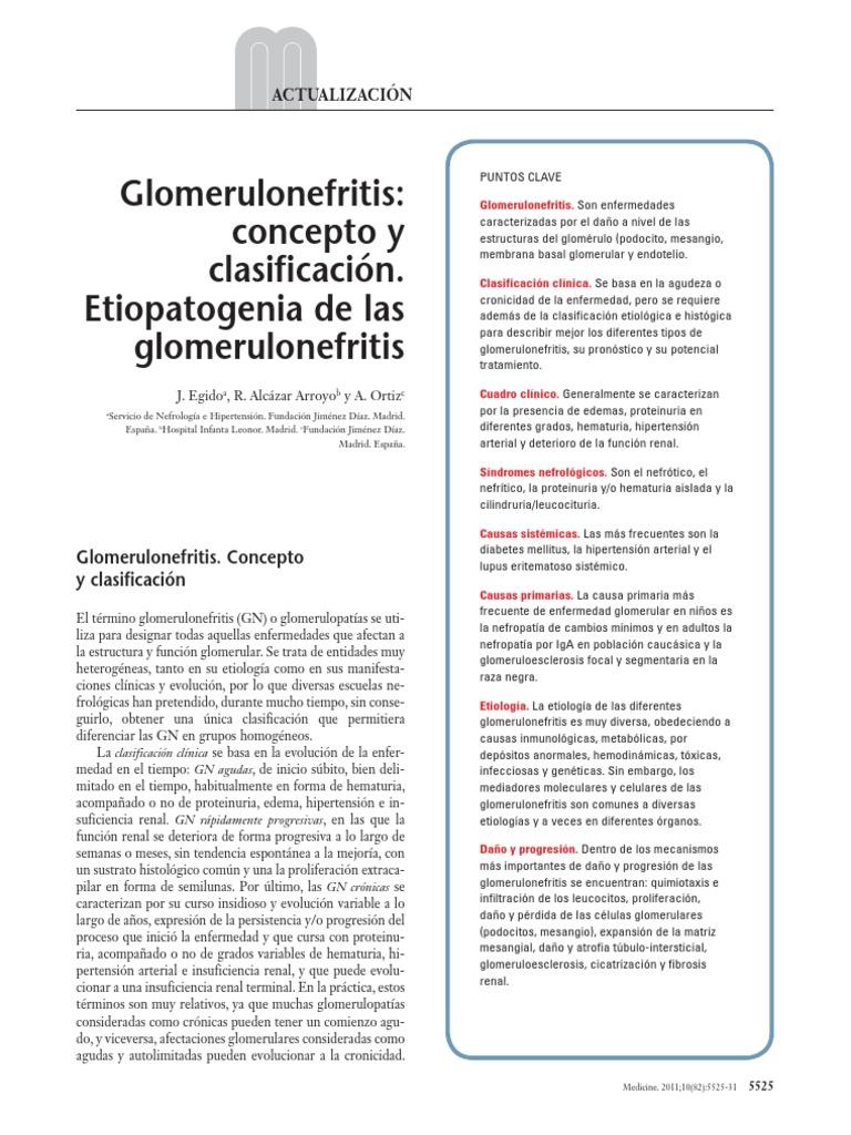 glomerulonefritis proliferativa diabetes no proliferativa ocular