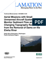 Aerial Missions With Small Unmanned Aircraft Systems to Monitor Sediment Flow and Changing Topography Resulting From the Removal of Dams on the Elwha River