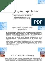 Deontología en La Profesión