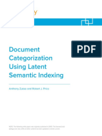 KCura White Paper - Document Categorization Using Latent Semantic Indexing