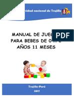 Manual de Juegos Para Bebes de 0 a 2 Años