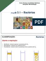 Aula 3.1 Bacterias Características e Reprodução