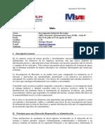 170209 MBA G - Investigación Global de Mercados