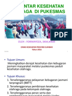 1 Formayoza. Pengantar Kesehatan Olahraga Puskesmas
