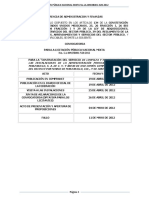 Convocatoria de Limpieza No. LA-009J3B001-N20-2012