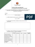 Doctorado Modelo Carta Recomendacion