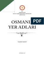 Torun, Sezen - Osmanlı Yer Adları (Genişletilmiş İkinci Baskı 2017)