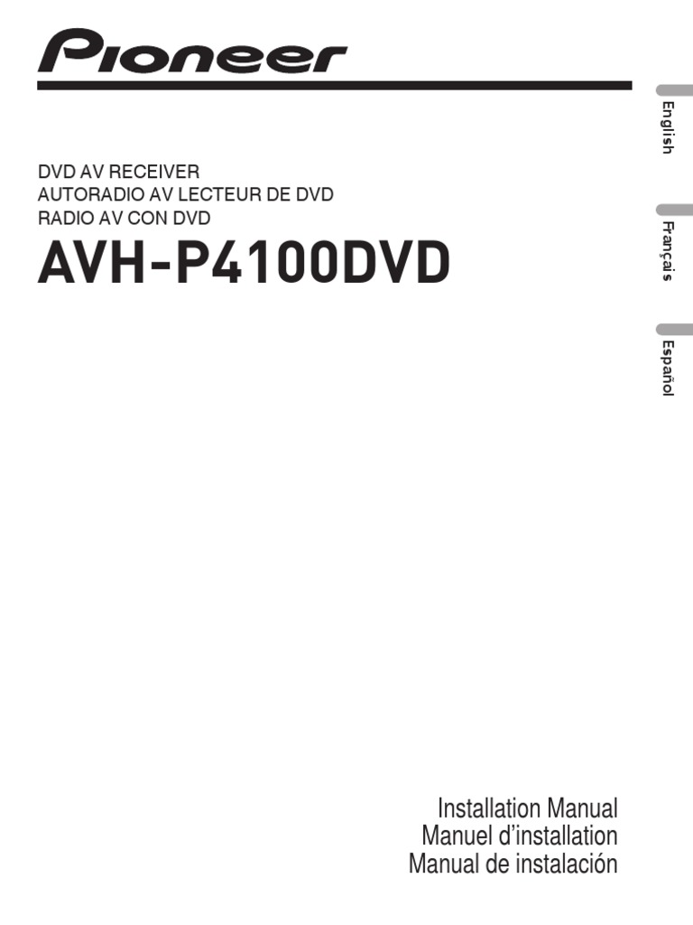 pioneer avh-p4100dvd installation manual | coaxial cable | electrical  connector