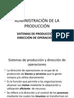 2.- Sistemas de Producción y Dirección de Operaciones