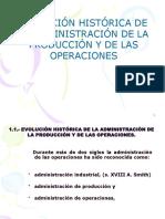 1.-Evolución Histórica de La Administracion de Procesos y de Produccion