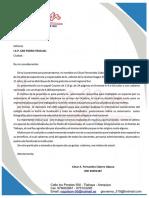 Carta San Pedro Pascual