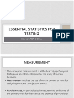 II - Essential Statistics for Testing