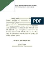 Requerimento de Desfiliação Do Sindicato Dos Policiais Civis de Alagoas - Modelo