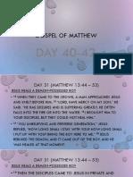 Lesson 14 (Gospel of Matthew)