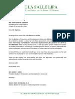 Letter for Seminar