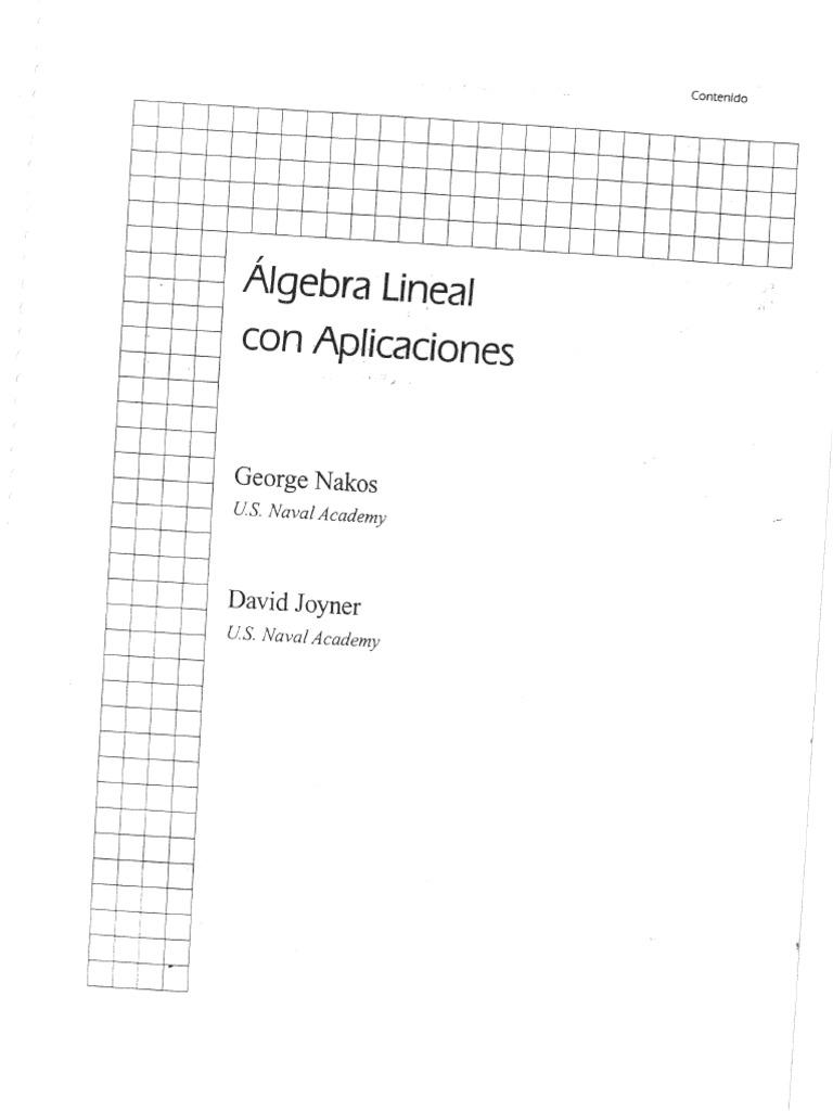 ALGEBRA LINEAL DE NAKOS PDF