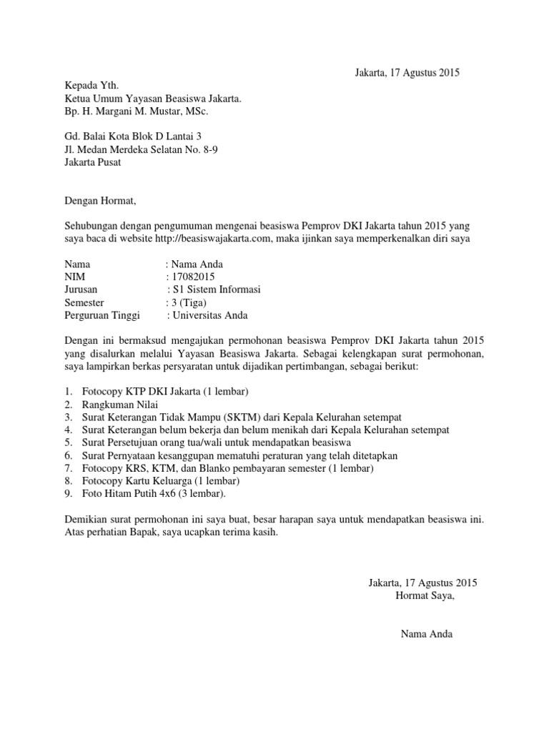 Contoh Surat Izin Orang Tua Untuk Lamaran Kerja - Kumpulan ...
