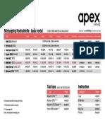 Apex Nürburg Price List Rental Cars Aug