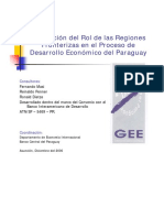 Evaluación del Rol de las Regiones Fronterizas en el Proceso de Desarrollo Económico del Paraguay