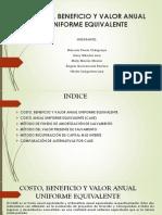 COSTO, BENEFICIO Y VALOR ANUAL UNIFORME EQUIVALENTE.pptx