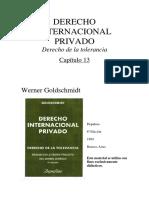 DER. INTERNACIONAL PRIVADO. GOLDSHMINDT-Capitulo 13