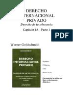 DER. INTERNACIONAL PRIVADO. GOLDSHMINDT-Capitulo 15-1
