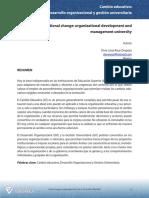 Desarrollo Organizacional y Gestion Universitaria