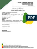 Boletín Meteorológico 28 de agosto - 23:00 horas