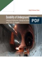 Durability of Underground Concrete