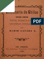 Centenario de Chiloe Dario Cavada 1826 1926