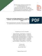 """Diseño de Un Sistema Administrativo y Contable Para El Consejo Comunal """"El Centro de Puerto Escondido"""" Santa Rita, Estado Zulia."""