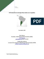 El Potencial Para Energias Renovables en Argentina