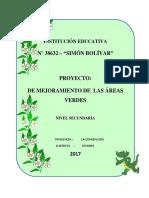 Proyecto de Implementacion de Areas Verdes