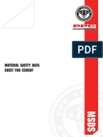 MSDS Cementitous Materials Safety