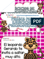 Frases Para Ejercicios Psicomotrices Animales Africanos PDF