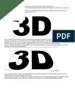 Texto efecto 3D