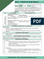 Plan 1er Grado - Bloque 1 Matemáticas (2017-2018)