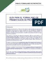 Guía Formulario Solicitud Proyectos SED Castellano