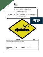 Investigacion de Incidentes o Accidentes
