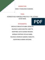 Exposicion de Anatomia HOMEOSTASIS