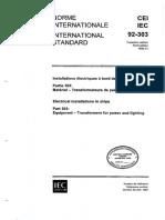CEI IEC 92-303