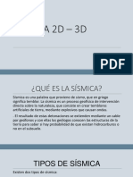 SÍSMICA 2D – 3D