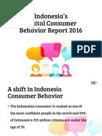 Indonesias Digital Consumer Behavior Report 2016