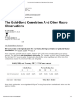 The Gold-Bond Correlation and Other Macro Observations