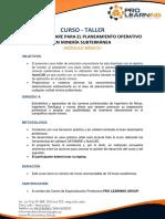 Uso de Software Para El Planeamiento Operativo en Minería Subterránea